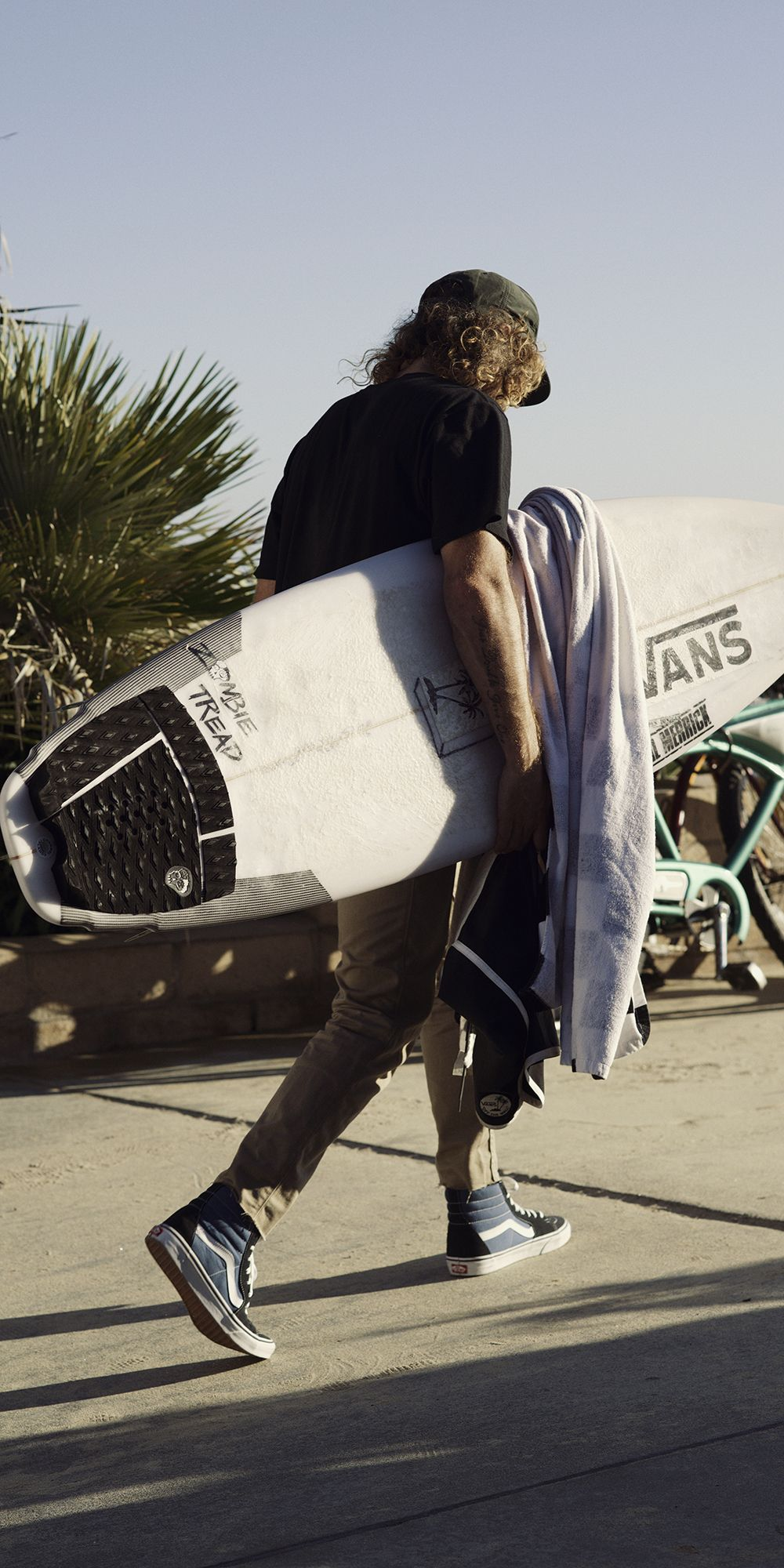 3795a6a15d5c45 Vans Surf s Wade Goodall in the Navy White Sk8-Hi. Shop all Vans Sk8-Hi  styles now.