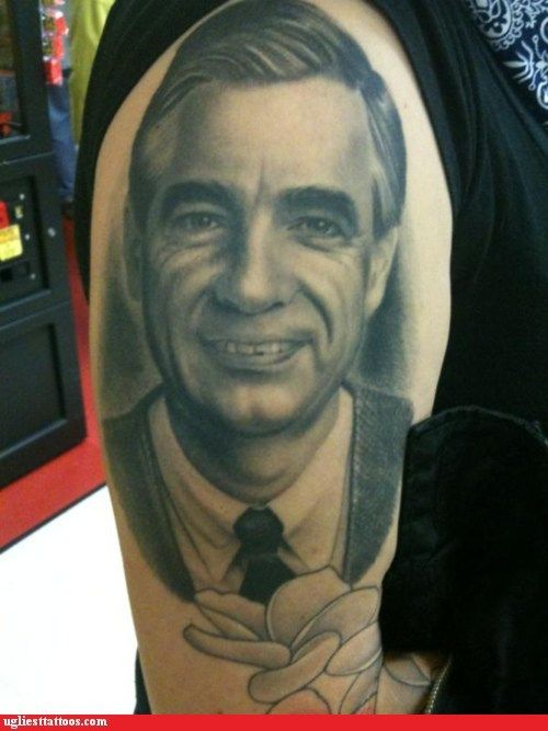 The Legend Will Live On Forever Thank You Mr Rogers Portrait Mr Rogers Portrait Tattoo