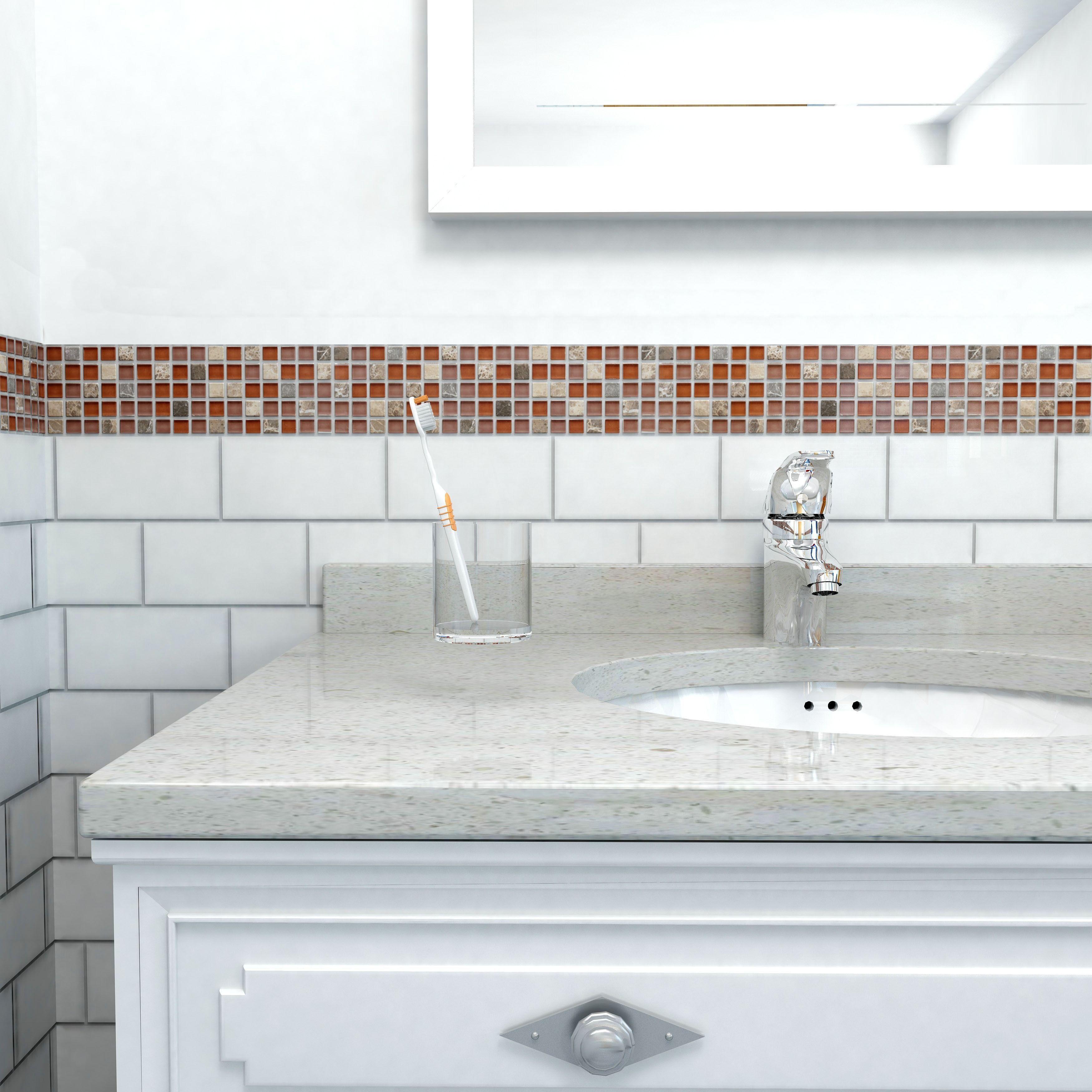 Kitchen backsplash @Overstock - These translucent glass tile sheets ...
