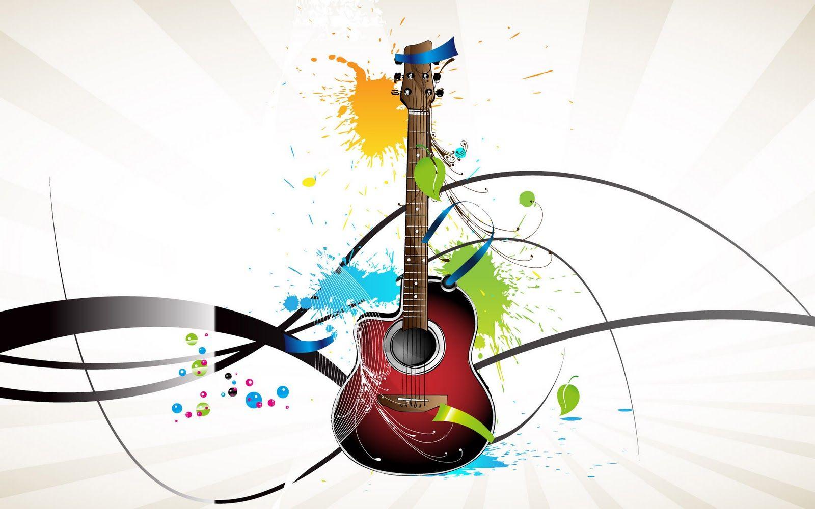 Abstract 3d Guitar Art Wallpaper Music Wallpaper Band Wallpapers Music Instruments