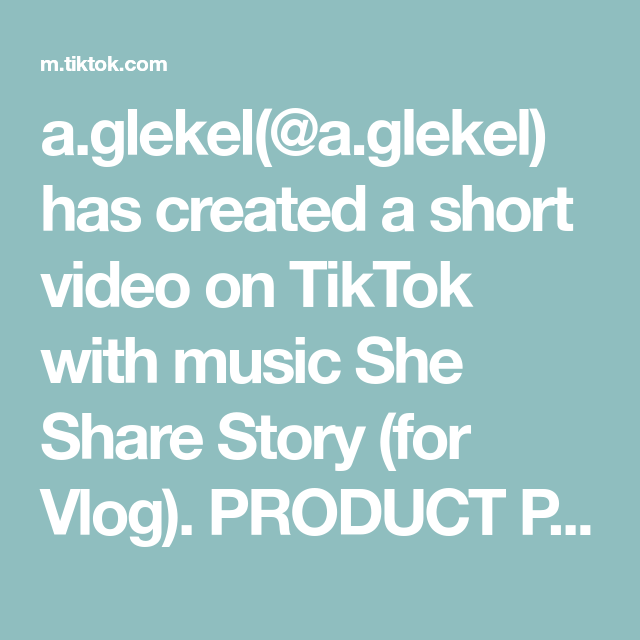 A Glekel A Glekel Has Created A Short Video On Tiktok With Music She Share Story For Vlog Product Photoshoot Id In 2021 Gentle Workout Creative Photos Share Story