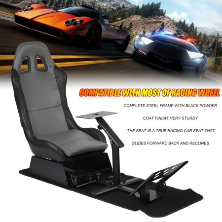 Marvelous Gaming Chair With Footrest Racing Simulator Seat With Andrewgaddart Wooden Chair Designs For Living Room Andrewgaddartcom