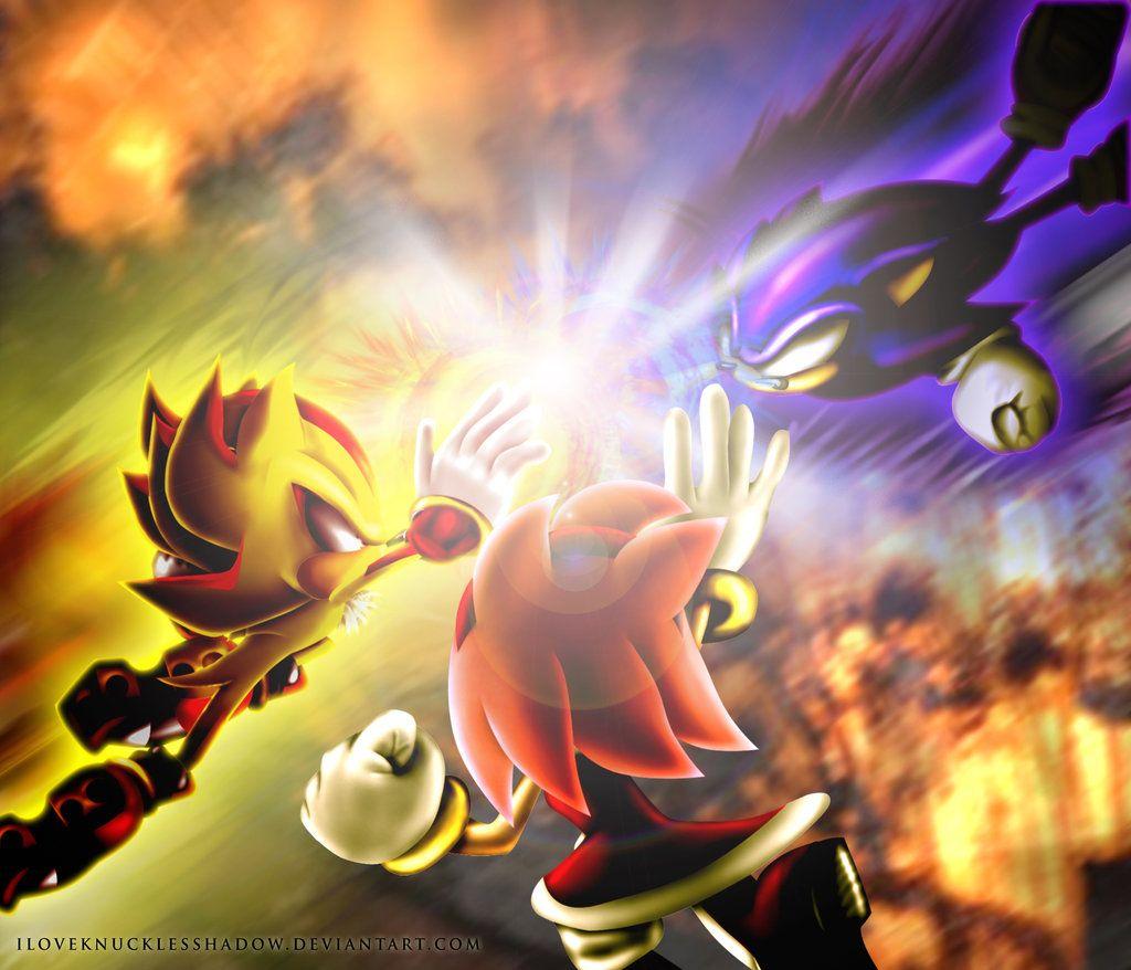 Dark Sonic Vs Shadow