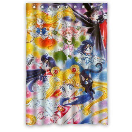 Image By Rowena Viloria On Sailor Moon Sailor Moon Bathroom Shower Curtains Shower Curtain