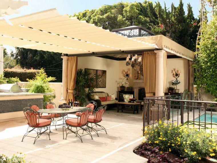 Auvent Et Voilage De Terrasse Avec Ombrage Pour Deco De