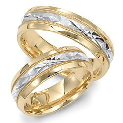 two tone wedding bands - Two Tone Wedding Rings