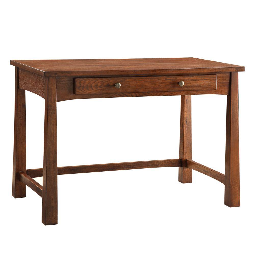 INSPIRE Q Granville Warm Walnut 1-drawer Writing Desk | Overstock.com  Shopping -
