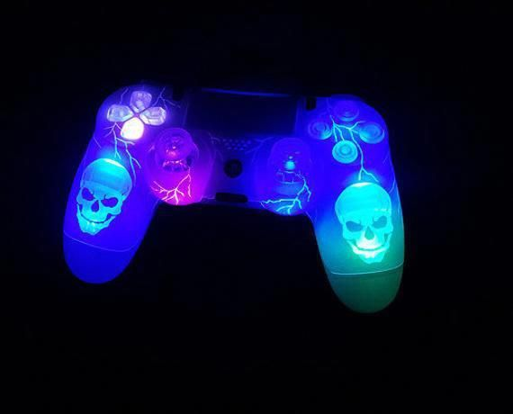 Light Up Skull Playstation Controller Xboxone Ps4 Controller