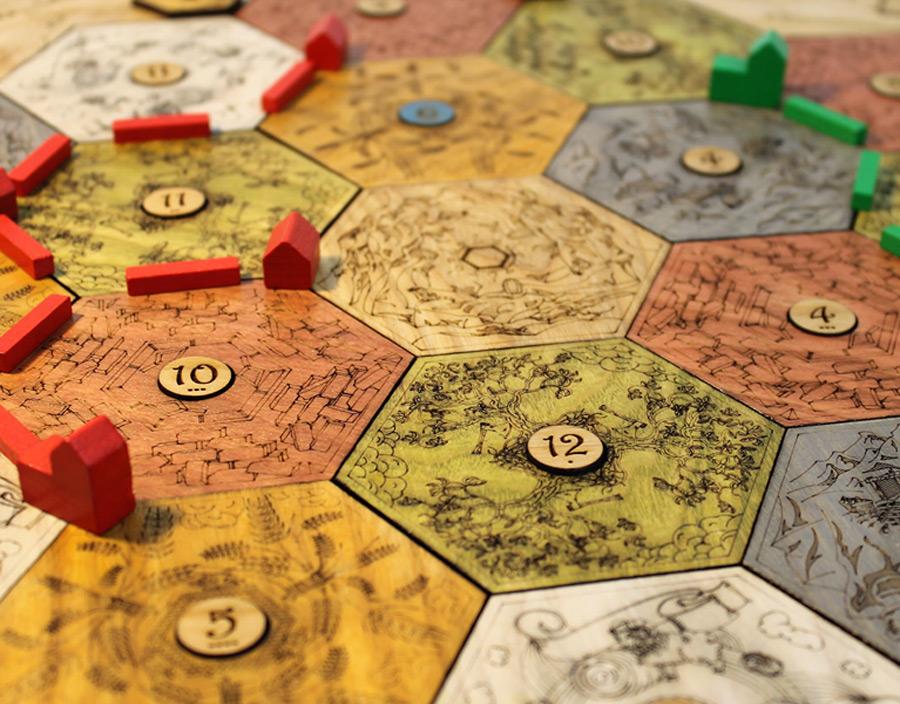 collectors hardwood catan board  analog games in 2020