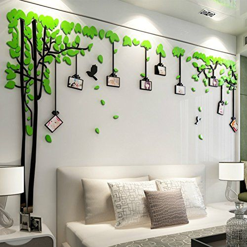 Alrens Tm Photo Frames Trees 3d Acrylic Crystal 3d Wall Stickers Living Room Bedroom Sofa Backgr Wall Decor Stickers Wall Stickers Living Room Sticker Wall Art