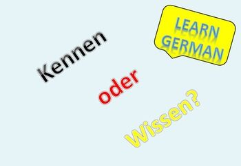 Kennen vs lernen - german