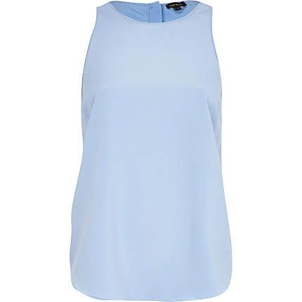 My new favourite colour for summer. Light blue button through back shell top £22.00
