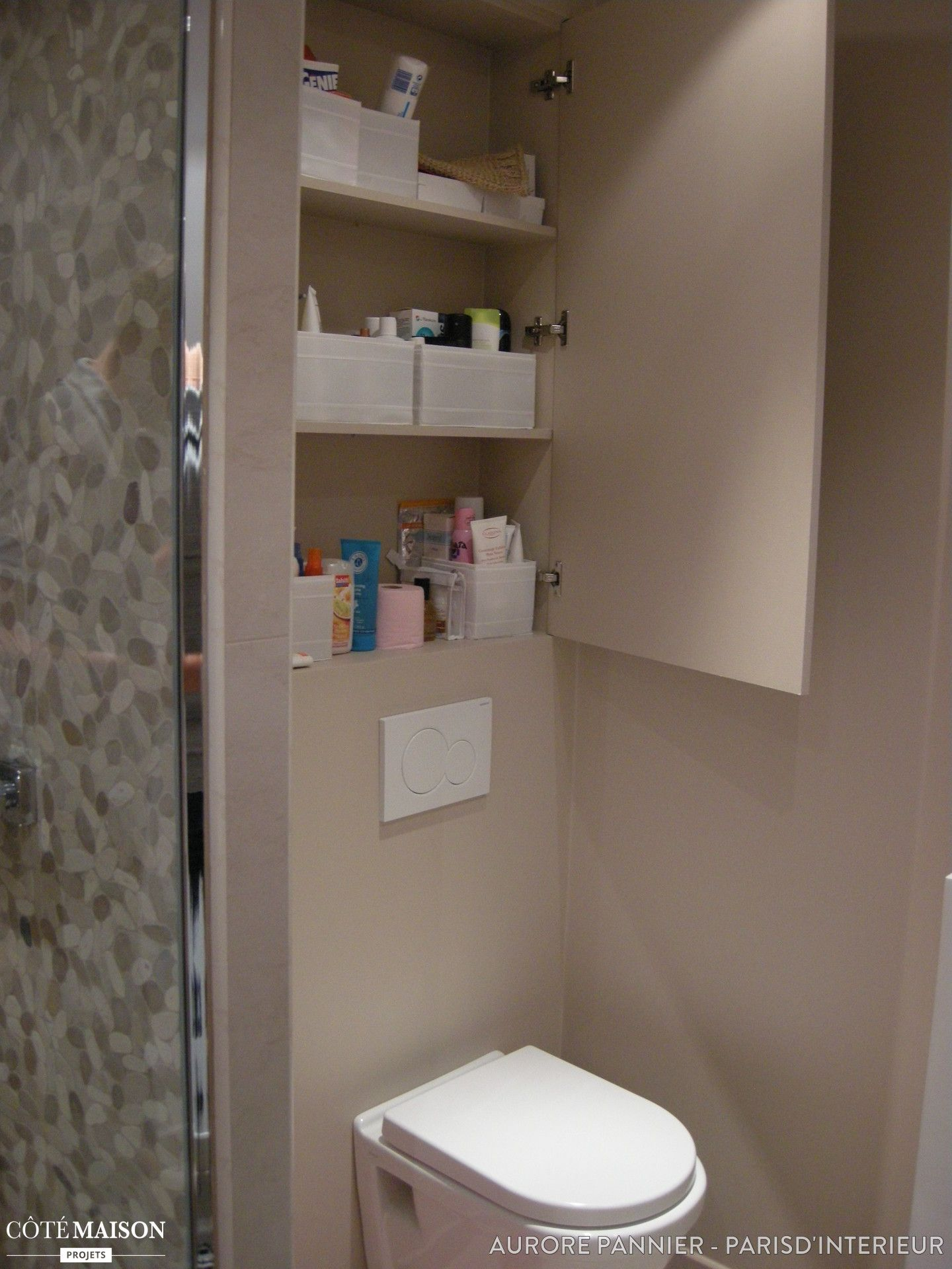 Une salle de bain r nover compl tement avec douche fa on italienne double vasque tons - Douche double italienne ...