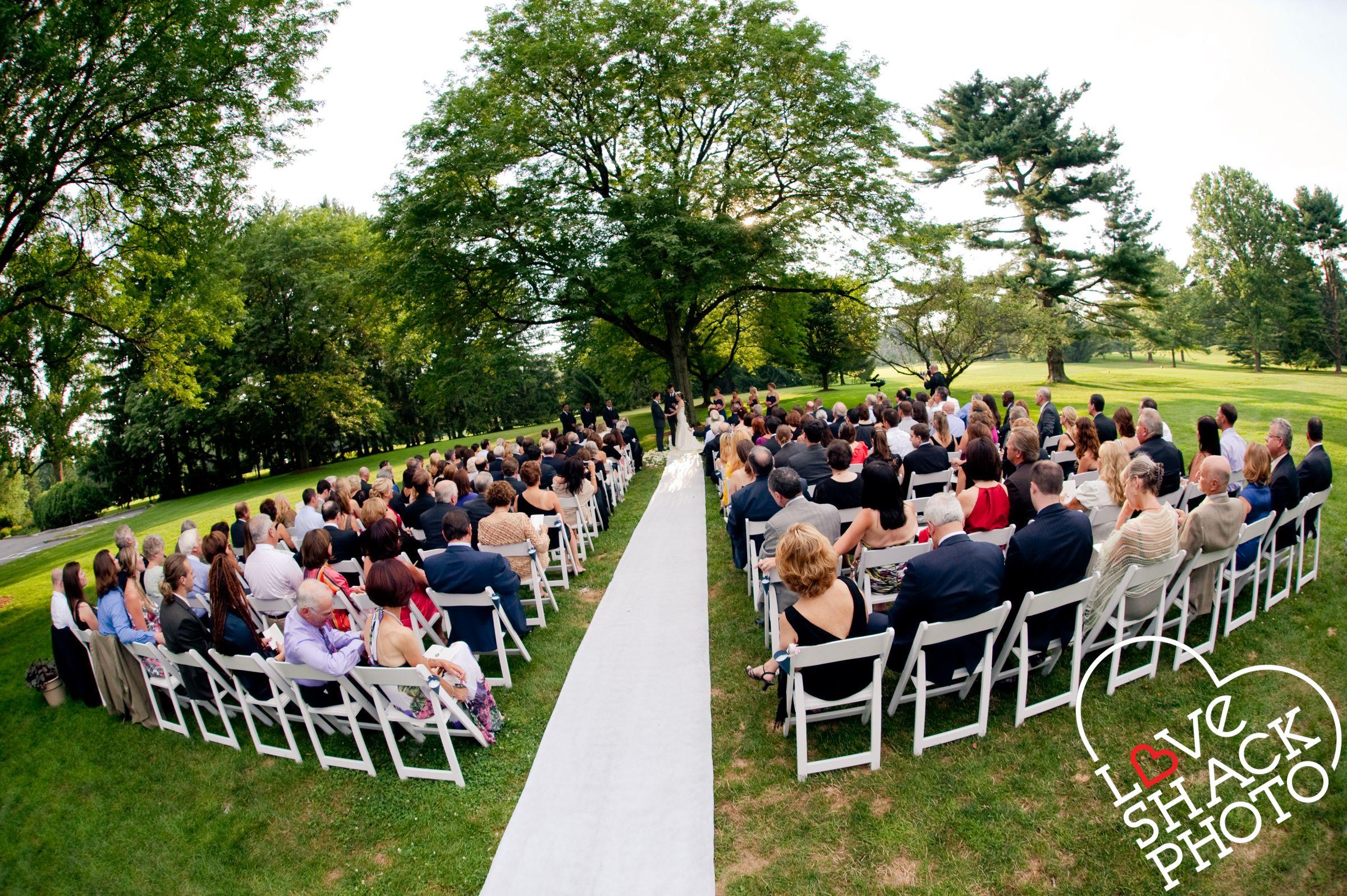 Amazing Outdoor Ceremony space at Greenacres Wedding venue New