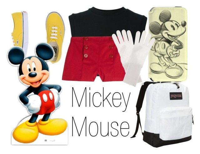 """""""Mickey Mouse~ DisneyBound"""" by basic-disney ❤ liked on Polyvore featuring Vans, adidas Originals, JanSport, RED Valentino, Jardin des Orangers, women's clothing, women, female, woman and misses"""
