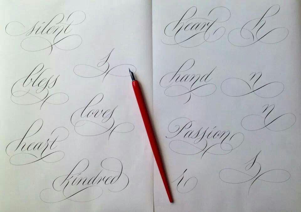 Rachel Yallop 39 S Copperplate Flourishing Calligraphy Copperplate Flourished Hand Lettering