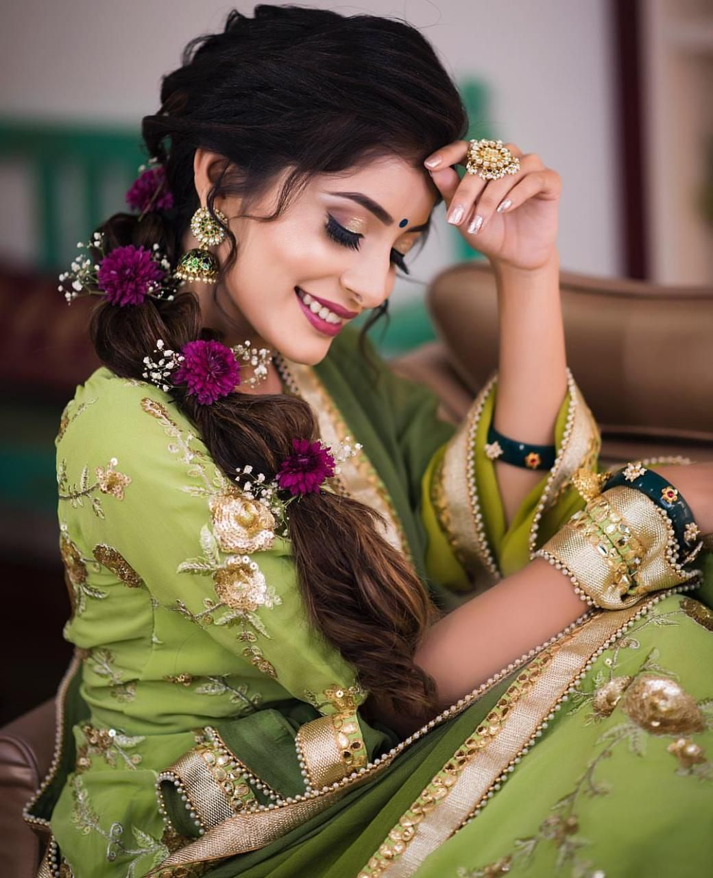 Pinterest Snehanair Indian Wedding Hairstyles Hairdo Wedding Bridal Hairstyle For Reception