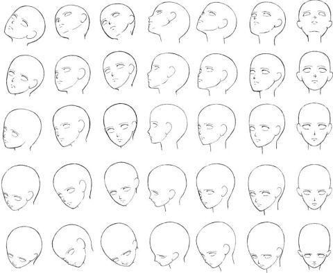 頭部アタリ 摩耶薫子 のイラスト pixiv 頭のスケッチ 顔のスケッチ 顔 描き方