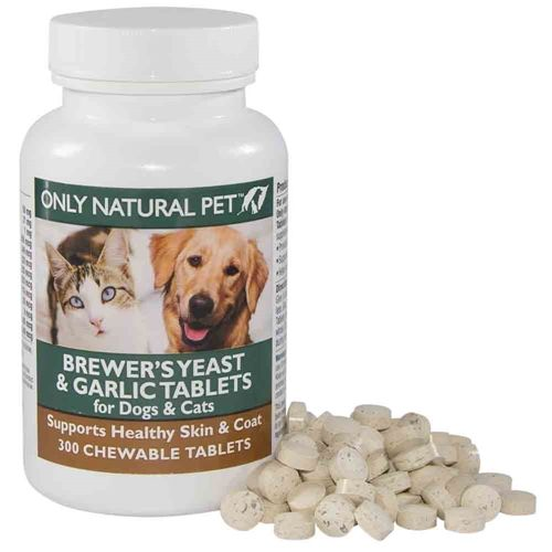 Only Natural Pet Brewers Yeast Garlic Flea Pills For Dogs Cats Natural Pet Pets Brewers Yeast
