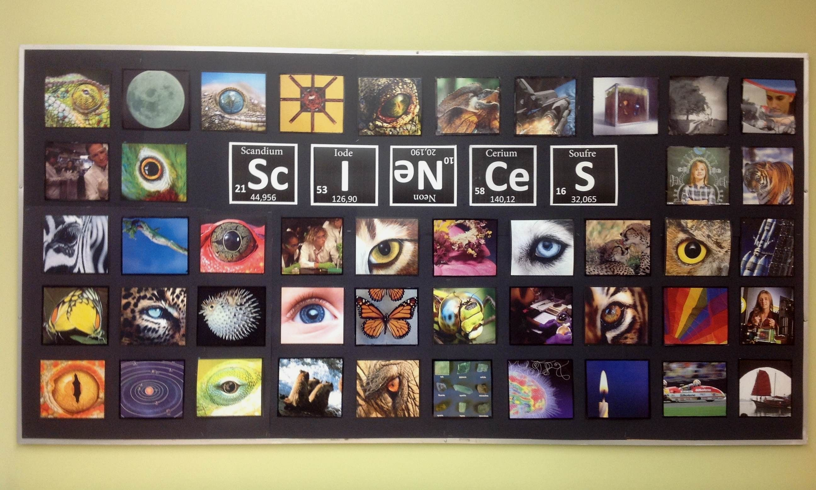 Science Classroom Bulletin Board Recycled Magazines