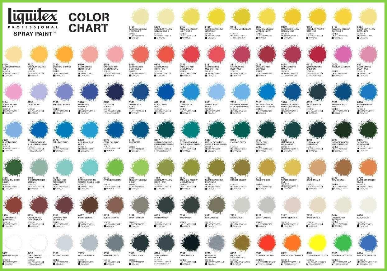 Artist loft acrylic paint color chart good liquitex