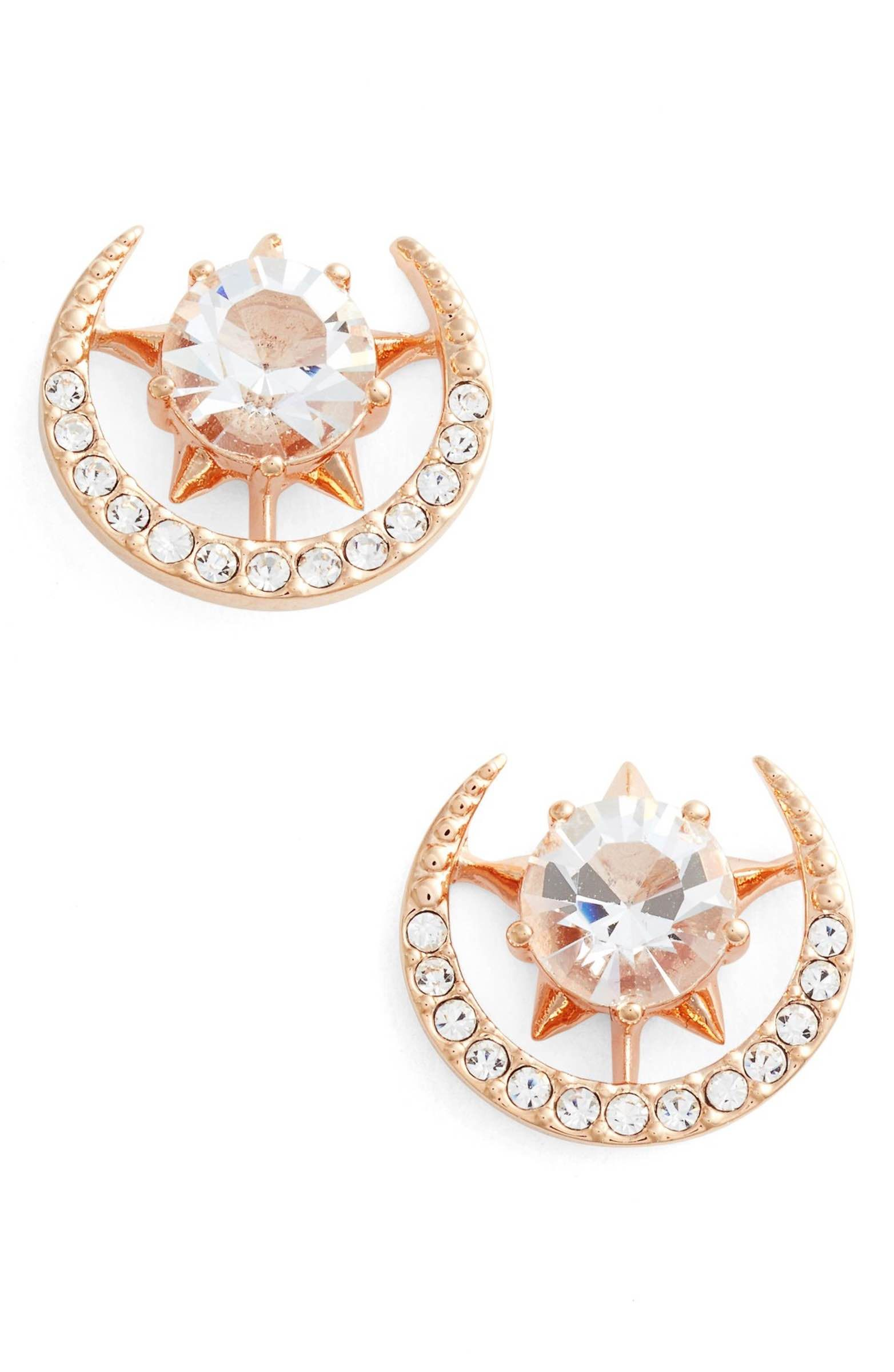 Main Image Nadri Wishes Moon Stud Earrings