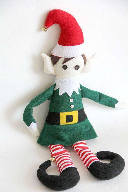 DIY Christmas Elf - free pattern and tutorial | Sew\'N & Stitch\'N ...