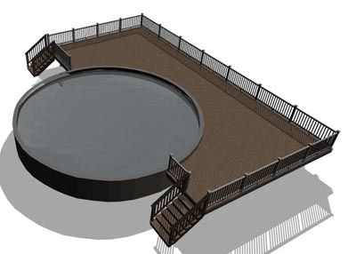 Above Ground Pool Deck Designs: Enhance the Beauty of Your Home: Pool Deck Design Scheme