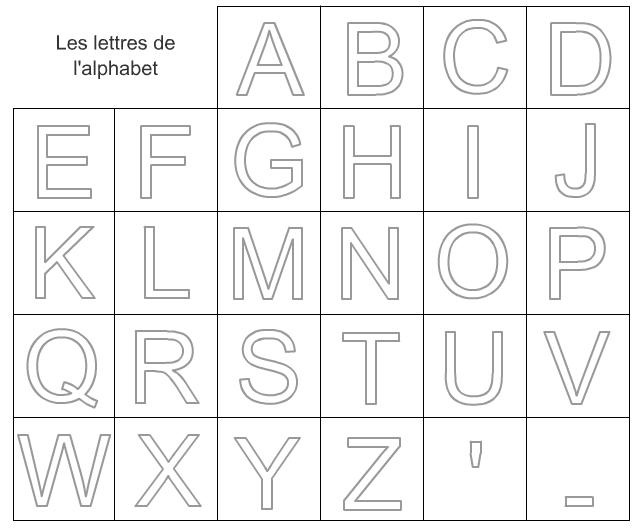 Cartes pour apprendre les lettres de l 39 alphabet - Alphabet majuscule a imprimer ...