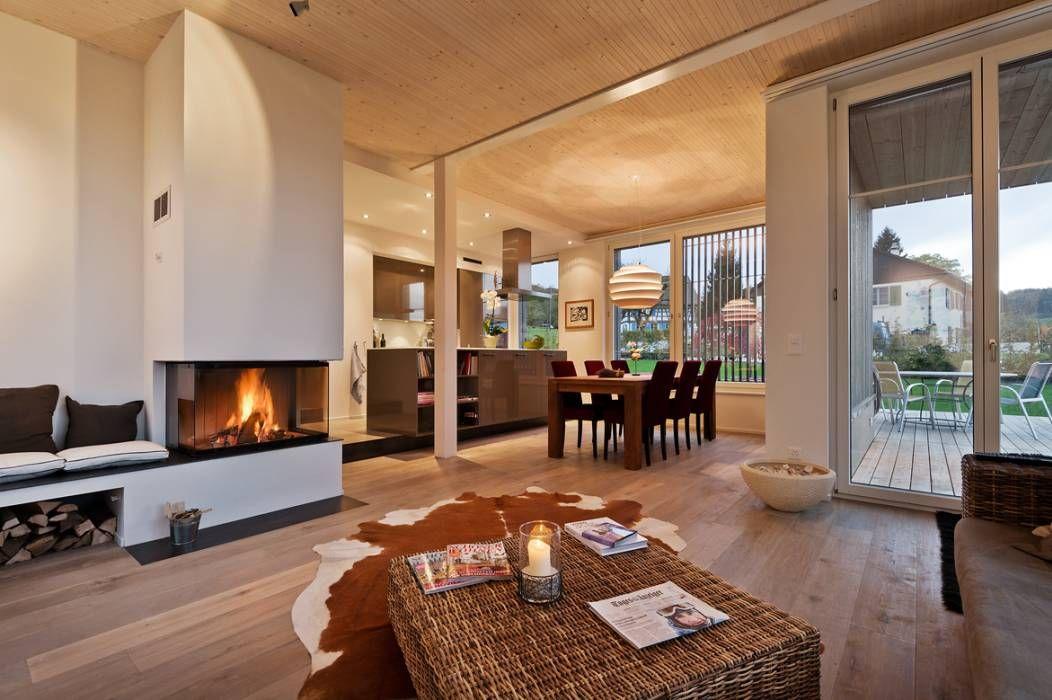 Landhausstil Wohnzimmer Bilder EFH Huggenberg - wohnzimmer beleuchtung indirekt