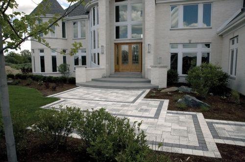 Front Steps Design Ideas Front Entrance With Steps And Borders | House Main Entrance Steps Design | Half Round | Landscape | Outside | Garden | Front Construction Area House