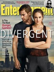 Entertainment Weekly cover featuring the Divergent cast (Shailene Woodley and Theo James)!!