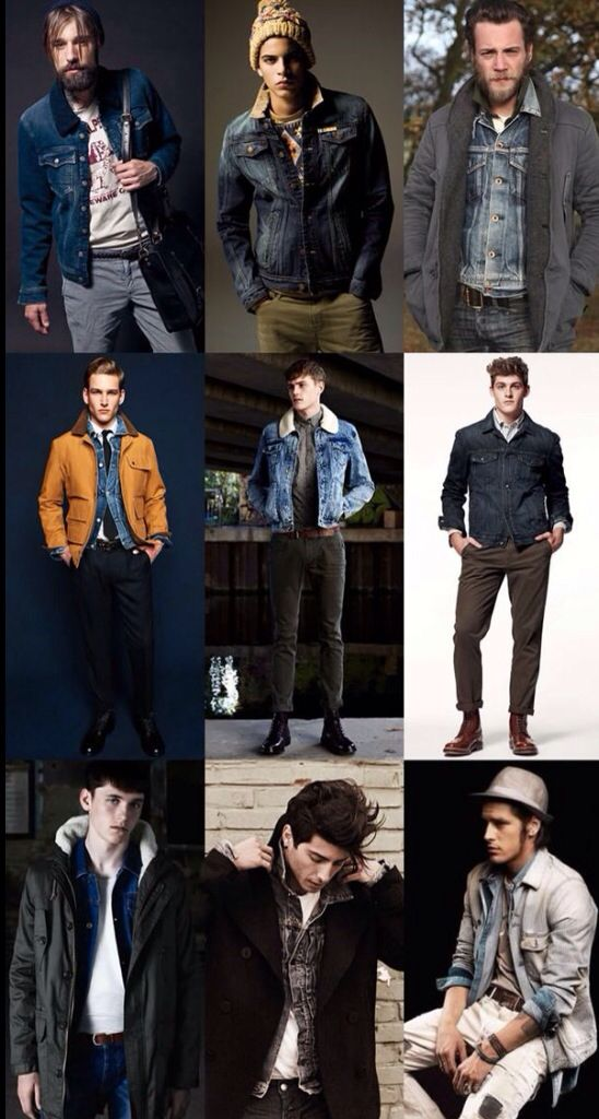 Denim and Jean Jacket Layering Inspiration. Men's Fall ...