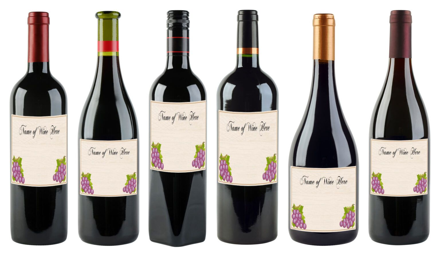 6 Free Printable Wine Labels You Can Customize Lovetoknow Within Blank Wine Label Templ Free Wine Label Template Wine Label Printable Free Wine Bottle Labels
