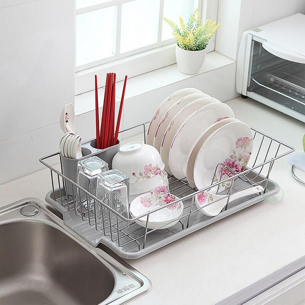 Quickway Imports Stainless Steel Dish Rack with Plastic ...