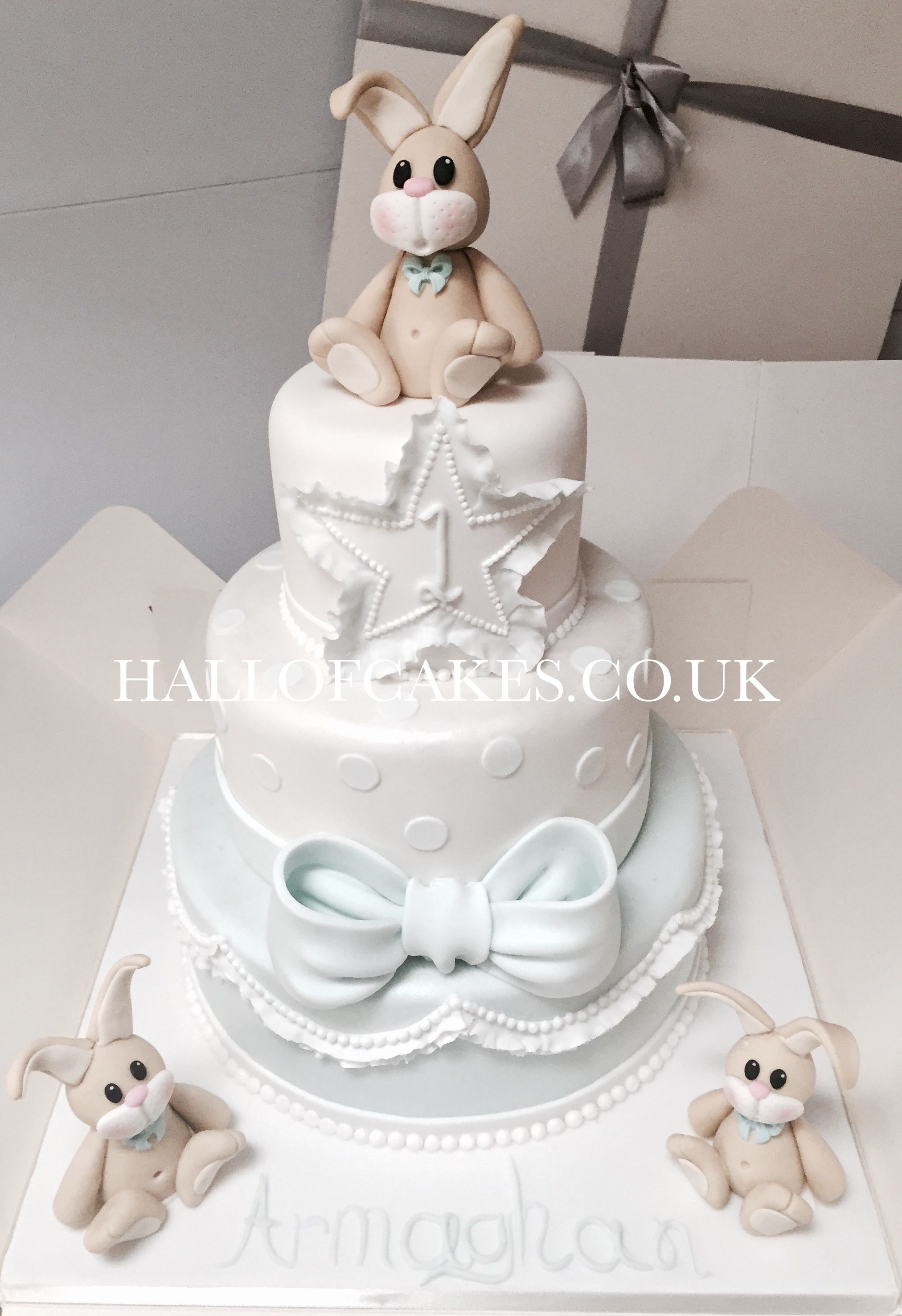 Bunny 1st Birthday Cake by Hall of Cakes Party Novelty and