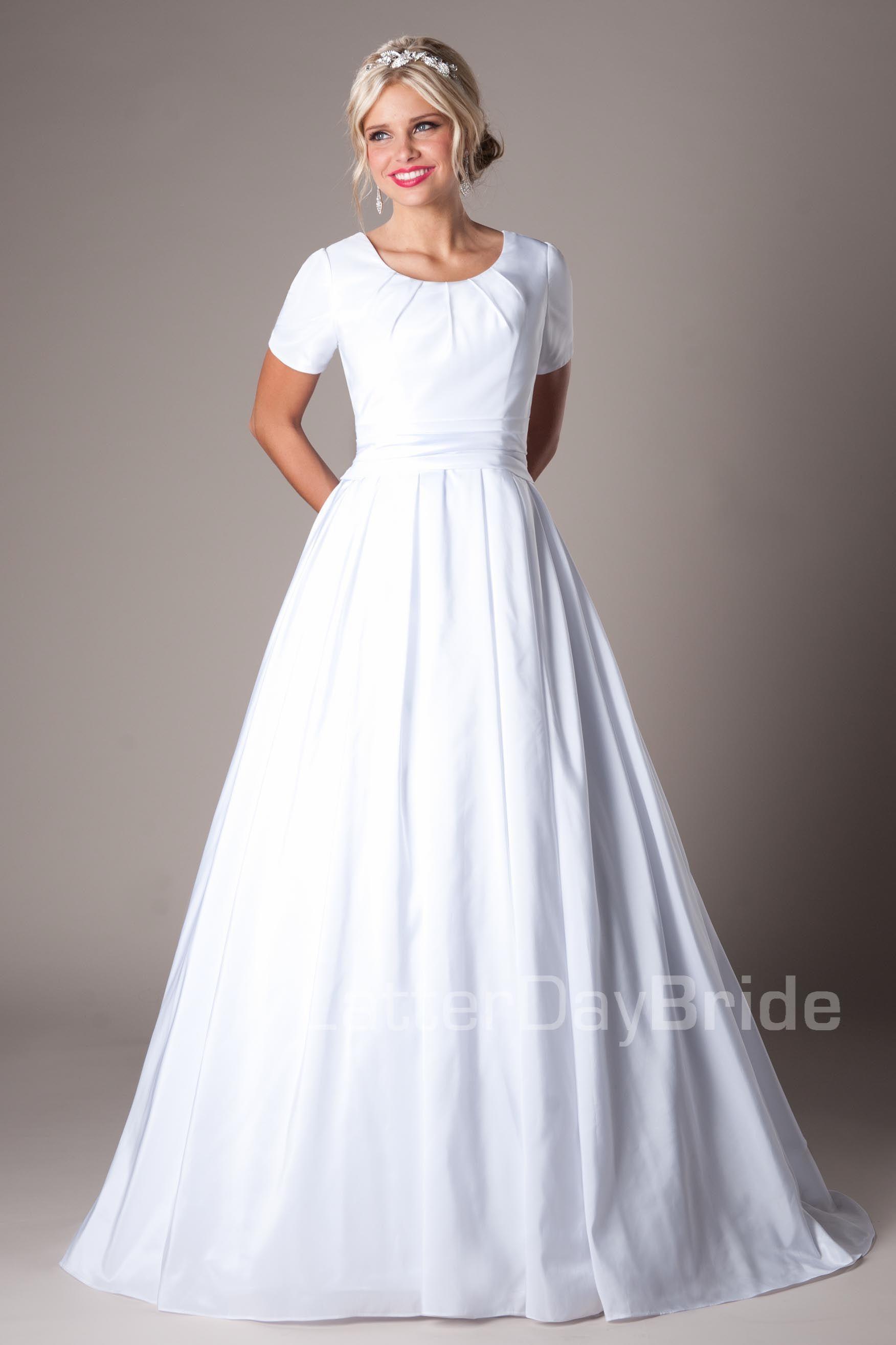 Weston modest wedding dress latter day bride prom for Latter day bride wedding dresses