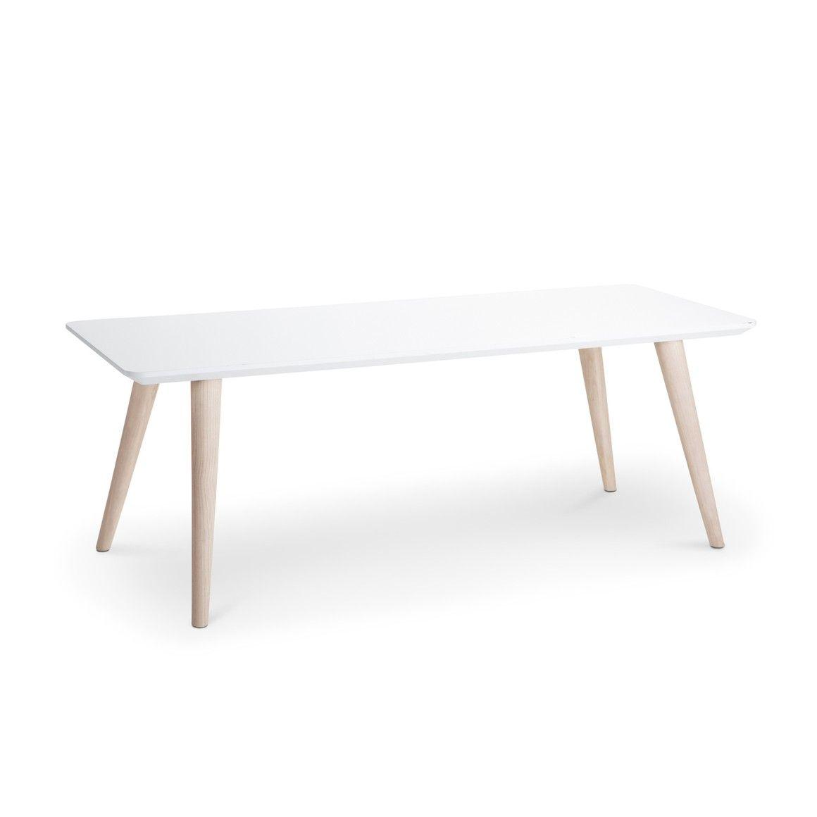 Table Basse Laque Blanc Avec Pieds En Erable Badra Blanc Erable 13584403 0 Clubtisch Tisch Wohnzimmer