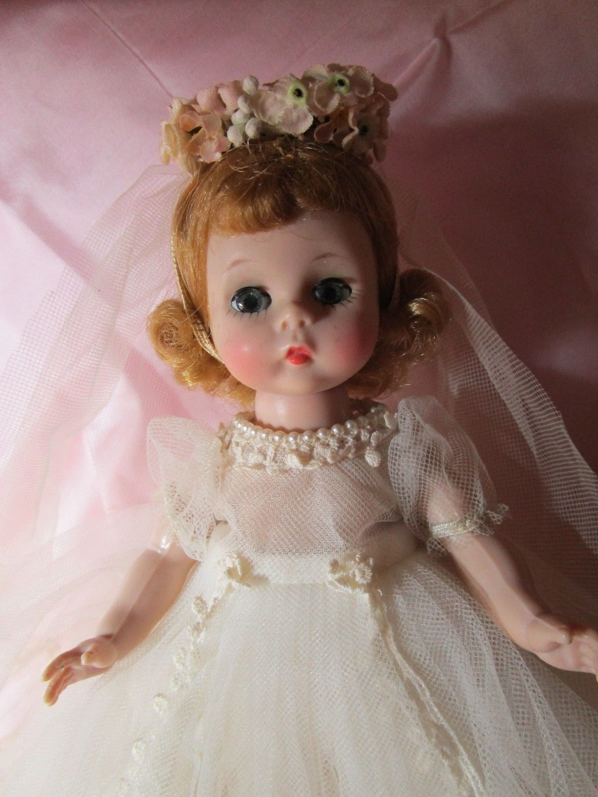 Alexander-Kin Bride BKW blonde ***GORGEOUS DOLL*** WREATH STYLE*** in Dolls & Bears, Dolls, By Brand, Company, Character, Madame Alexander, Vintage (Pre-1973), 1948-59 | eBay