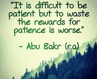 Patient Shaytaan, Impatient Insaan, Sabeen Mansori, Patience