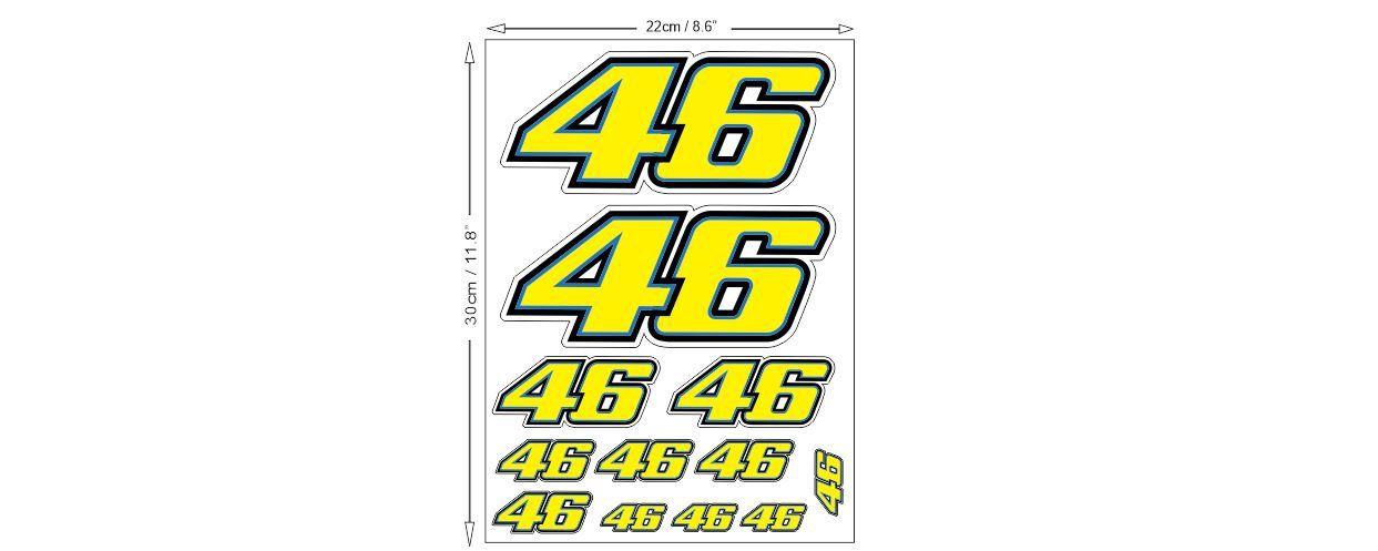 Valentino Rossi 46 Sticker Sheet Aufkleber Autocollants