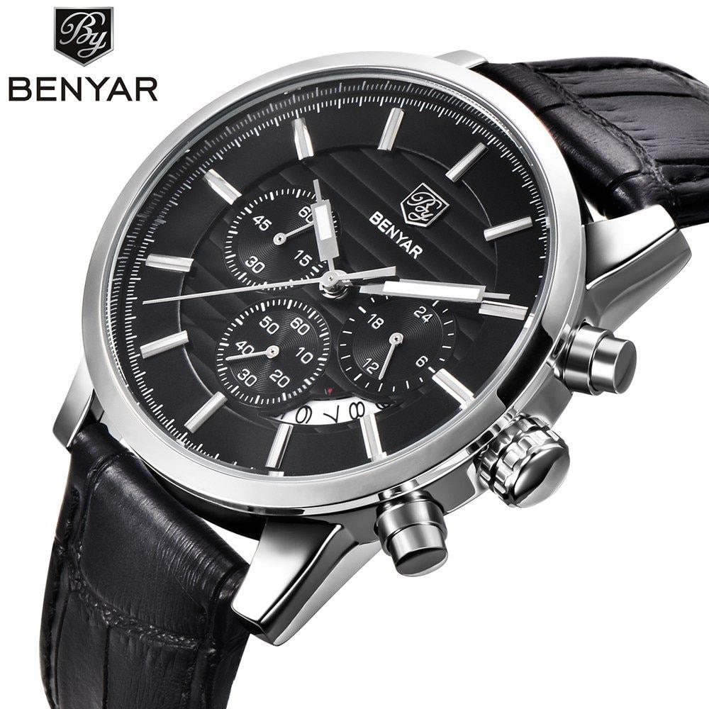 91bde6cd8cb On Sale BENYAR Fashion Stainless Steel Chronograph Sports Mens Watches Top  Brand Luxury Quartz Business Watch Clock Relogio Masculino  watch  watches    ...