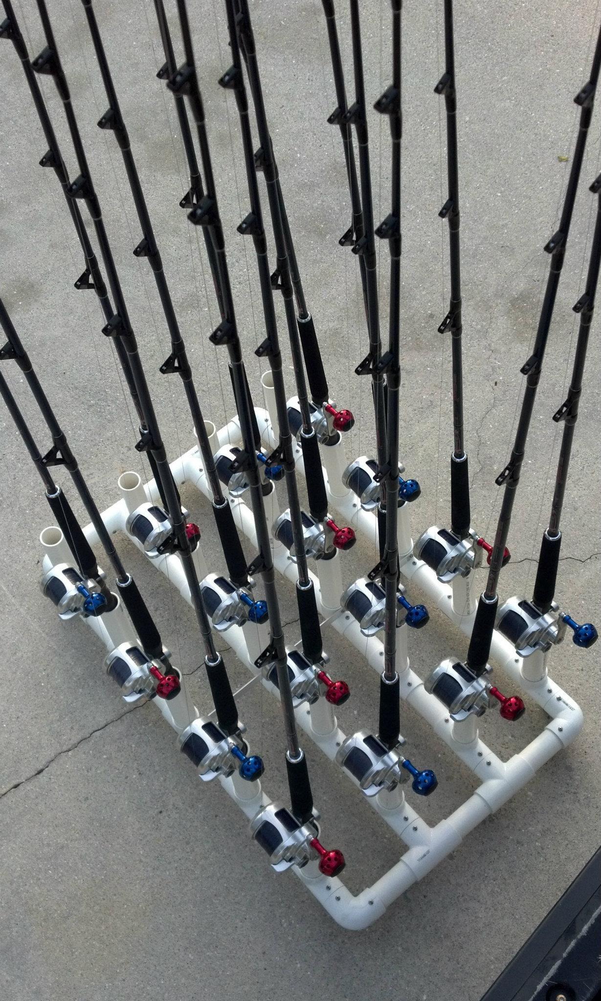 Pvc Fishing Rod Holder Ideas Pvc Fishing Rod Holder Fishing Rod Holder Fishing Rod