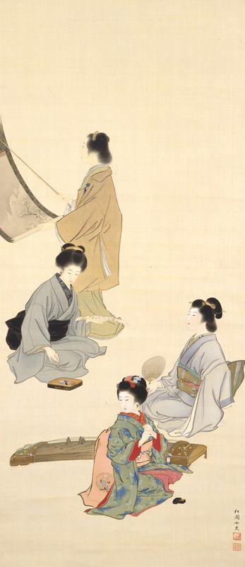 「上村松園 四季美人図」の画像検索結果