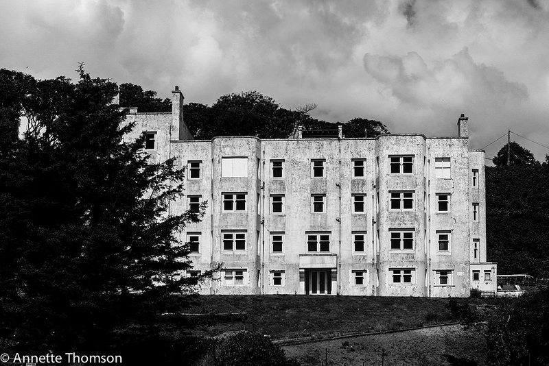 Abandoned Keil Hotel, Southend, Kintyre.