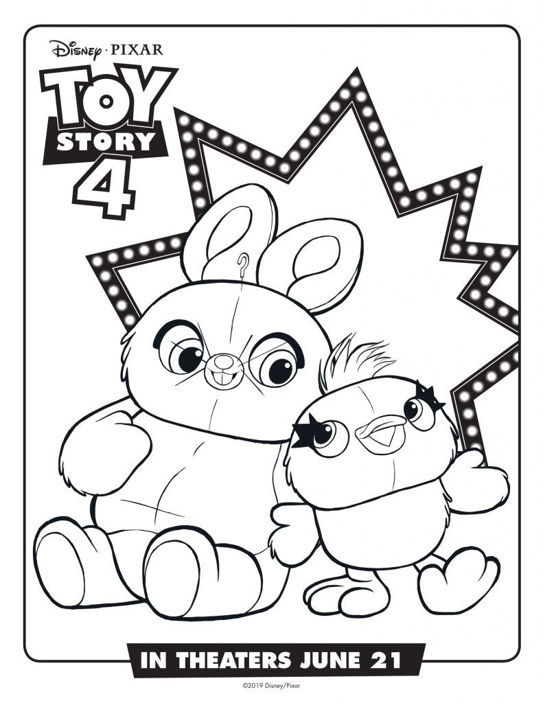 Toy Story 4 Coloring Pages Best Coloring Pages For Kids Toy Story Coloring Pages Bunny Coloring Pages Free Disney Coloring Pages