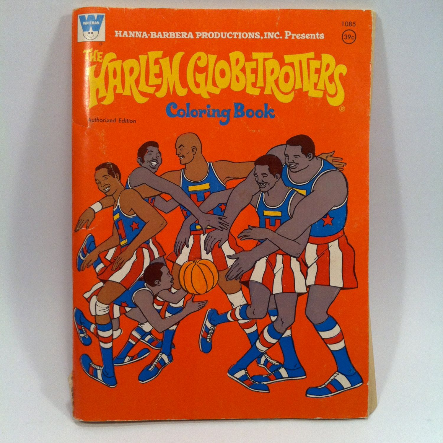 Whitman hot wheels coloring book - The Harlem Globetrotters Coloring Book 1971 Whitman Hanna Barbera Basketball By Vintagebaron On Etsy