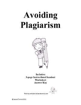 plagiarism handouts worksheet and quiz avoiding plagiarism worksheets and school. Black Bedroom Furniture Sets. Home Design Ideas