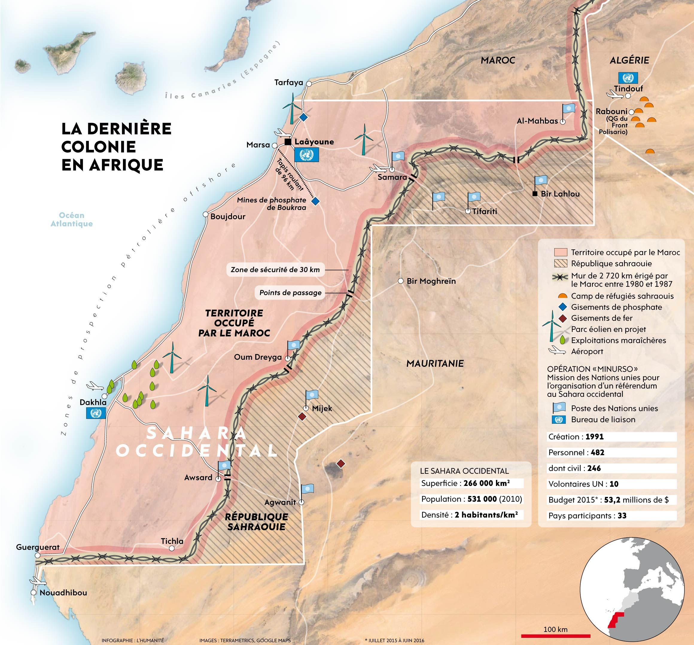 Africas last colony Western Sahara under Moroccan occupation