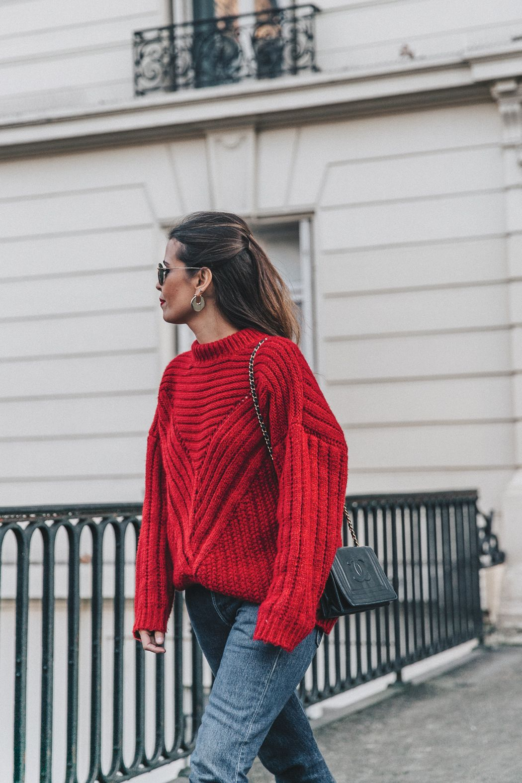 62ccb5d4b57 RED-KNITWEAR-Levis-Jeans-Red Boots-Outfit-Street Style-Levis Vintage ...